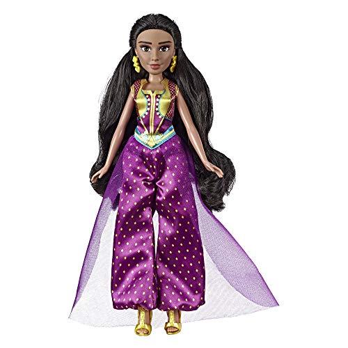 Disney Prinzessin Jasmine Fashion Puppe mit Kleid, Schuhen und Zubehör, inspiriert von Disneys Aladdin Live-Action-Film, Spielzeug für 3 Jahre