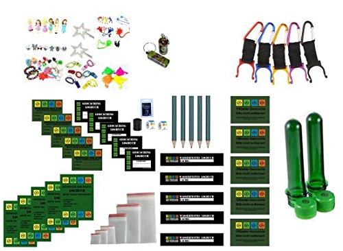 61 Teile Großes Refill Set - Logbücher und Aufkleber - Wartungsset Maintenance Kit Geocaching Petling Logbücher Filmdosen Micro Nano, Cache Container, Cache versteck,