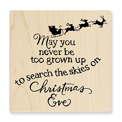 Stampendous Wood Stamp, Christmas Sky