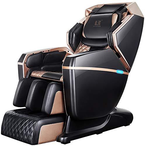 4D Zero Gravity Massagesessel Ganzkörper-Shiatsu Massagesessel Lehnstuhl mit Tapping Heizung und Fuß Rollemassager