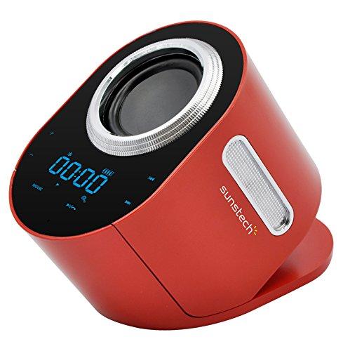 Sunstech SPCBT750RD - Altavoz con Bluetooth y NFC (pantalla táctil, micrófono, SD,...