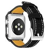Bracelet pour montre Apple Watch 42mm, bracelets et étuis AISPORTS iWatch 42mm en cuir Etui de...