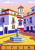 Vintage-Blechposter, Spanien, Reisestadt, Andalusien,