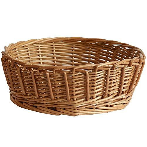gaowei Las Cestas de Almacenamiento Tejidas a Mano, Las Cestas Multifuncionales para Pan de Bambú y RatáN Se Pueden Utilizar para Almacenar Aperitivos y Otros Objetos PequeñOs (tamaño : S)