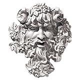 Design Toscano Bacchus, God of Wine Greenman Wall Sculpture, Medium, 12 Inch, Polyresin, Antique Stone