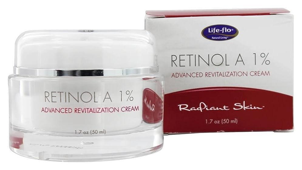 カスタム気分が悪い精神的に海外直送品 Life-Flo Retinol A 1% Advanced Revitalization Cream, 1.7 oz