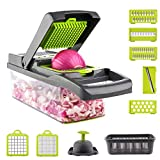 Xeeue Onion Chopper Pro,Vegetable Chopper and Dicer Container-Spiralizer and Salad Maker,Kitchen Food Veggie and Fruit Cutter,Mandoline Slicer Cutter Chopper and Grater