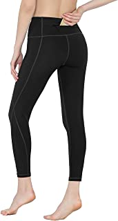 Rocorose Capri Yoga Pants with Pockets Fitness for Women High Waisted Leggings Tummy Control Power Stretch Workout