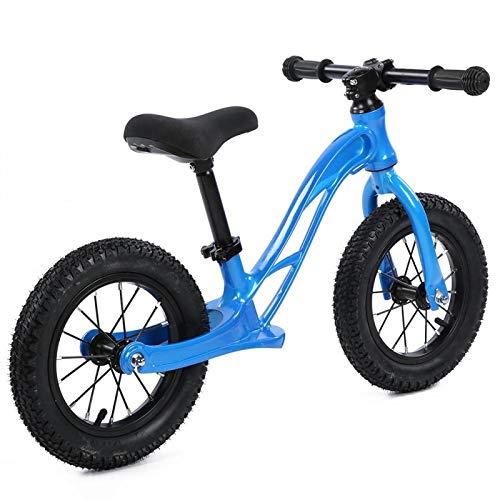 Bicicleta de equilibrio para niños, sin pedal, mini bicicleta equilibrada para niños, aleación de magnesio, dos ruedas, bicicleta deslizante para niños de 2 a 6 años(Azul)