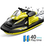 Syma 2.4GHz RC High Speed Boat Remote Control Watercraft for Pools, Lakes and Outdoor Electric Race Q10 RC...