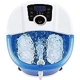 Massaggiatore 6 in 1 con calore, nebulizzatore, 4 rulli motorizzati, conversione di frequenza a 3 velocità, regolazione dell'ora e della temperatura, comfort calmante per i piedi