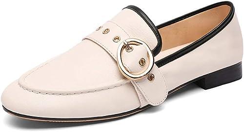 YXX-zapatos para mujer Hauszapatos sin Cordones británicas para mujer, zapatos de Vestir Oxfords con Punta en Punta para mujer, zapatos Mary Janes