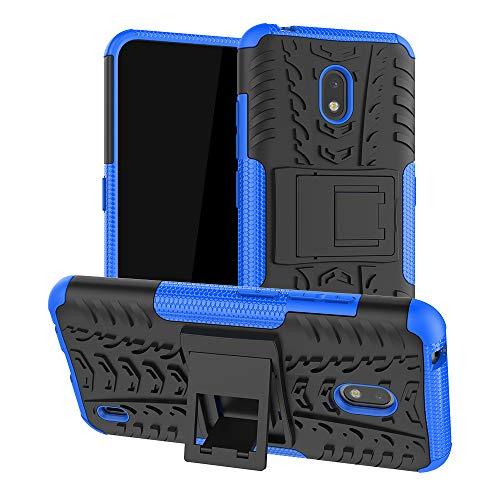 LFDZ Nokia 2.2 2019 Hülle,Abdeckung Cover schutzhülle Tough Strong Rugged Shock Proof Heavy Duty Hülle Für Nokia 2.2 2019 (Not fit Other Models),Blau