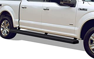 APS iBoard (Black 5 inches Wheel to Wheel) Running Boards Nerf Bars Side Steps Compatible with 2015-2020 Ford F150 SuperCrew Cab 5.5ft Bed Pickup 4-Door & 2017-2020 Ford F-250 F-350 SuperCrew Crew Cab