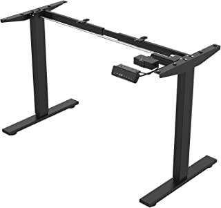 Black Electric Stand up Desk Frame, Adjustable Standing Computer Desk Legs for Home and Office (Frame only) Vertical and H...