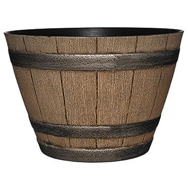 Whiskey Barrel Planter, Distressed Oak, 15
