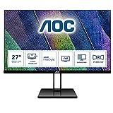 AOC 27V2Q Monitor LED da 27' IPS, FHD, 1920 x 1080, Senza Bordi, HDMI, DP, Nero