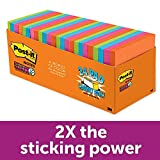 Post-it Super Sticky Notes, Rio de Janeiro Colors, Large Pack, Recyclable, 3 in. x 3 in, 24 Pads/Pack, 70 Sheets/Pad (654-24SSAU-CP)