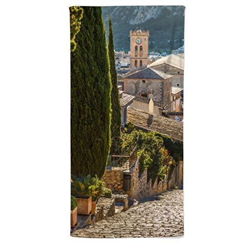 fotobar!style Handtuch 50 x 100 cm Kreuzweg zum Kalvarienberg in Pollenca auf Mallorca