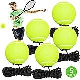 Fostoy Pelotas de Tenis con Goma Elastica, 5 Paquete Entrena
