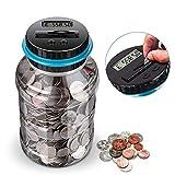 Digital Coin Bank,digital counting money jar,Big Piggy Bank Digital Counting Coin Bank for Kids Adult Boys...