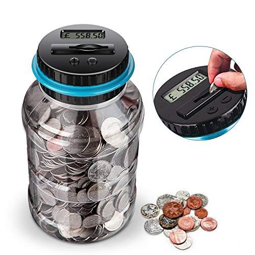 Digital Coin Bank,digital counting money jar,Big Piggy Bank Digital Counting...