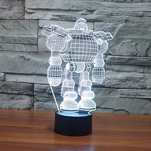 Robot Spot 3D LED Nachtlicht USB Tischlampe Kinder Geburtstag Geschenk Nachtdekoration am Bett