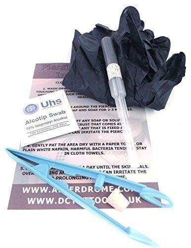 Dctattoo - 1.2 Canule Bcr Kit Piercing - Choix Bijoux Taille - 8mm