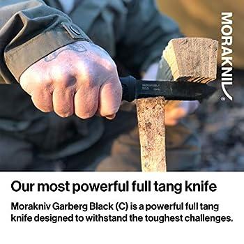 Morakniv Garberg Carbon Leather Sheath Couteau Mixte, Noir