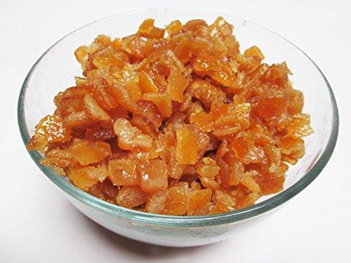 Candied (Glazed) Orange Peel Dices. 16 oz bag