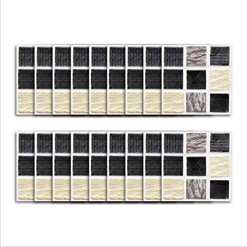 Etiqueta engomada de la teja del vinilo/patrón del ladrillo del hogar, etiqueta engomada autoadhesiva de la pared 3D que empalma cuadrados