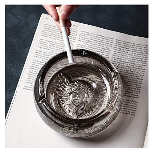 Asbak Glas Ornament Ash Lade Creativiteit Gratis Staande Desktop Woonkamer Koffie Tafel Huishouden Voor Bar Kantoor Buiten Grijs 12X5cm HAODAMAI