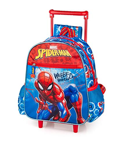 Spiderman Zaino Trolley Asilo, 29 Centimetri, Poliestere, Multicolore