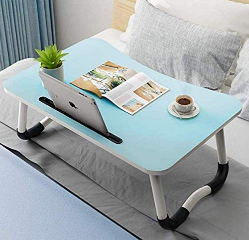 Laptop Bed Tray Table, Foldable Lap Desk Stand, Multifunction Lap Tablet with Slot, Bed Tray Laptop Desk for Eating Breakfast, Reading, Working, Watching Movie on Bed/Couch/Sofa/Floor