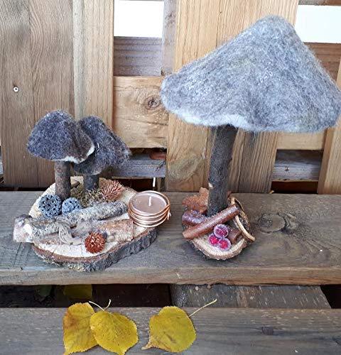 Deko Pilze, Herbstdekoration, gefilzt