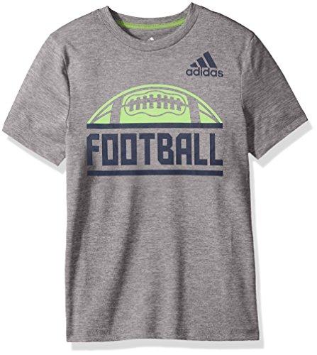 adidas Short Sleeve Cotton Jersey Graphic T-Shirt, Grigio Scuro, XL Bambino