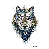 wyuen 5pcs nuevo diseño lobo tatuajes temporales Hombres falsos–Adhesivo decorativo...