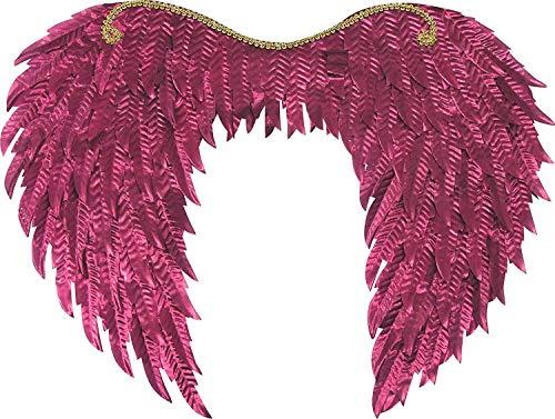 Forum Novelties Metallic Wings, Rose Pink, One Size