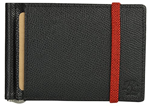 Walletsnbags Iris Elastic Leather Money Clip Wallet for Men