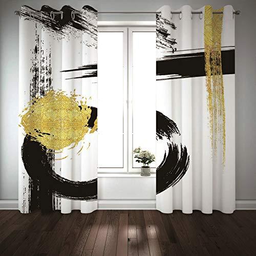 BATOHOME Visillo Translucido, Cortinas Habitacion Y Colcha Pintada Cortinas Termicas Salon, Cortina de Tela Puerta Interior(2PCSx43 x96)