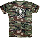 T-Shirt Chemise militaire armée France Légion Élite française Vert XXXX-Large