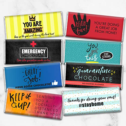 Quarantine Gifts Candy Care Package Hershey's Chocolate Bars (8 Pack)