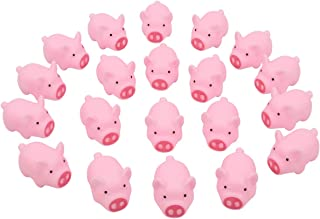 Meeall Pig Bath Toy, Rubber Pig Baby Bath Toy for Kids, Pig Decorations, 30 PCS