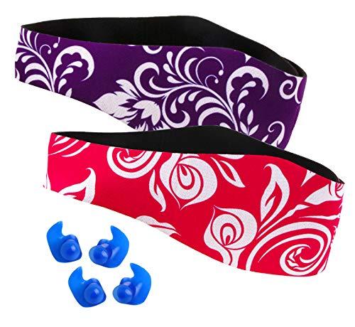 Schwimmen Stirnband für Kleinkinder, Kinder, Erwachsene - um die Ohren der Schwimmer zu schützen, Ohrenschutz - Wasser fernhalten Halten Sie die Ohrstöpsel im Wasserdichten Band für Kinder Erwachsene