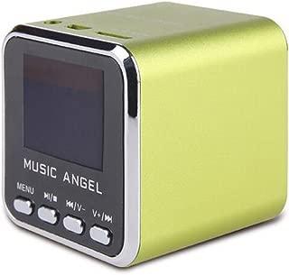 Music Angel JH-MD08D LCD Screen Mini Digital Speaker Clock Alarm TF MP3 Player FM Radio(green)