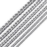 MASADA Collana da uomo in acciaio inossidabile, da fine a massiccia, catena larga in argento e oro