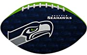PERFECT FOOTBALL FOR ANY SEATTLE SEAHAWKS FAN that wants to show off his or her team pride while tossing around a football that is easy to throw and catch IDEAL SIZE FOR TOSSING AROUND A TAILGATE, this ball is small enough to fit in a youth hand, yet...