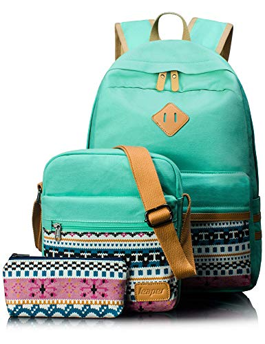 Leaper Canvas Laptop Bag School Backpack...