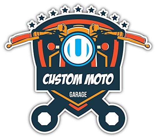 SkyBug Custom Moto Garage Bumper Sticker Vinyl Art Decal for Car Truck Van Window Bike Laptop