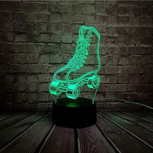 Nachtlampje 3D LED-lamp sport scooter skates schoenen meerkleurig dimbaar nachtlampje USB touchscreen kinderen baby slaap cadeau